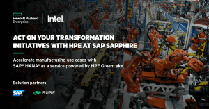 Digital transformation and the SAP S/4HANA transition with HPE *Sapphire NOW 2021*