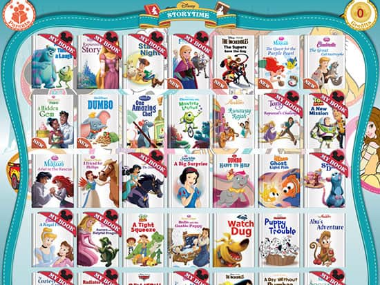 The Disney Storytime app is well stocked, but you pay for each new book.