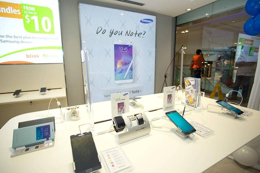 Samsung's new Experience Store at Westmall. Photograph courtesy Peter Limchoy