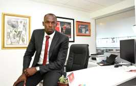 Usain Bolt will settle in here at his office in Jamaica as Digicel's new CSO. Photo courtesy Digicel.
