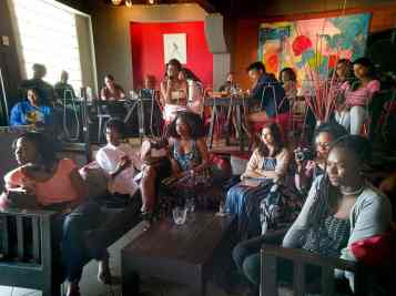 art of the audience at the T&T leg of the Caribbean Bloggers Meetup at Drink Wine Bar. Photo by Mark Lyndersay.