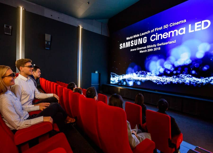 Big screen playing in Winnetka