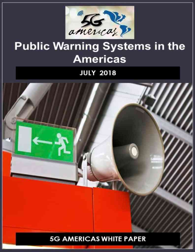 5G Americas publishes paper on cell based public warning systems