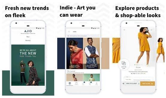 AJIO online shopping app - technewztop.com