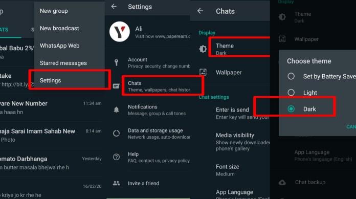 Whatsapp Dark mode - technewztop.com