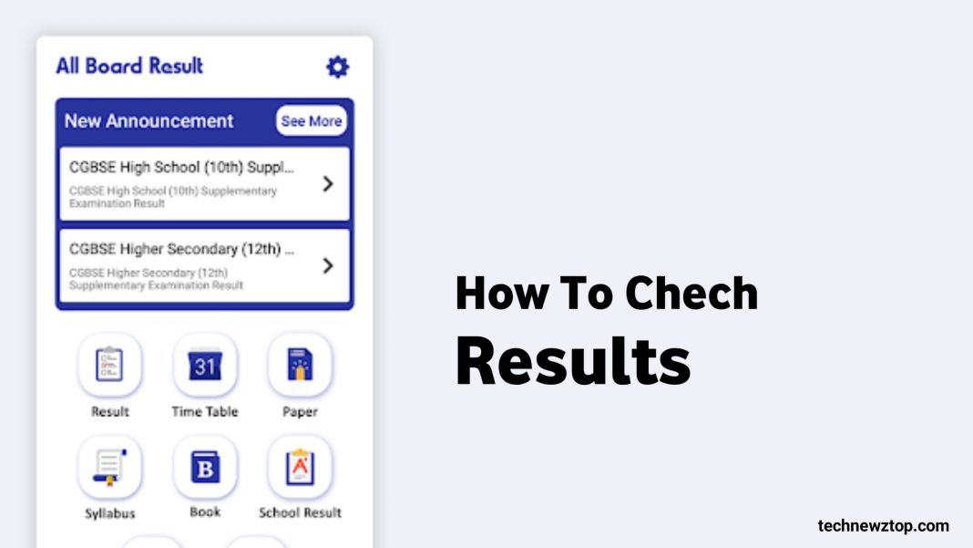 How to Check 10th & 12th Result