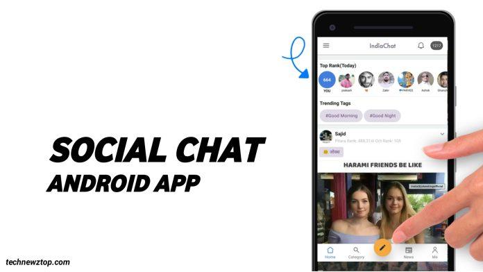 Indian social chat app