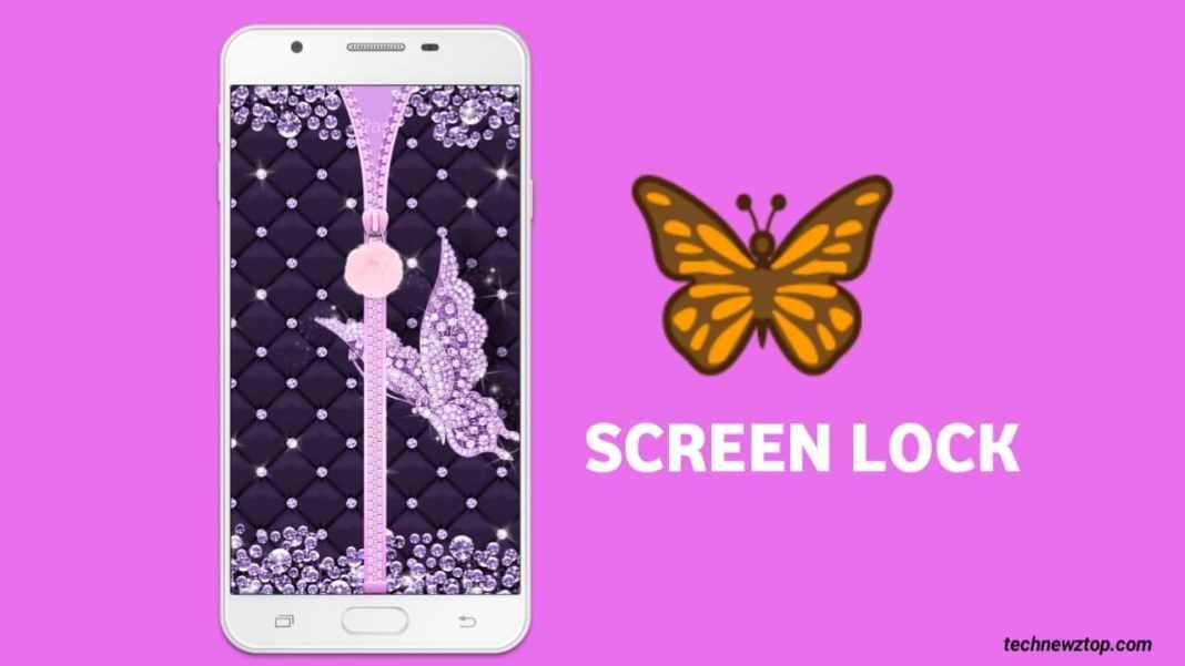 Butterfly Zipper screen lock