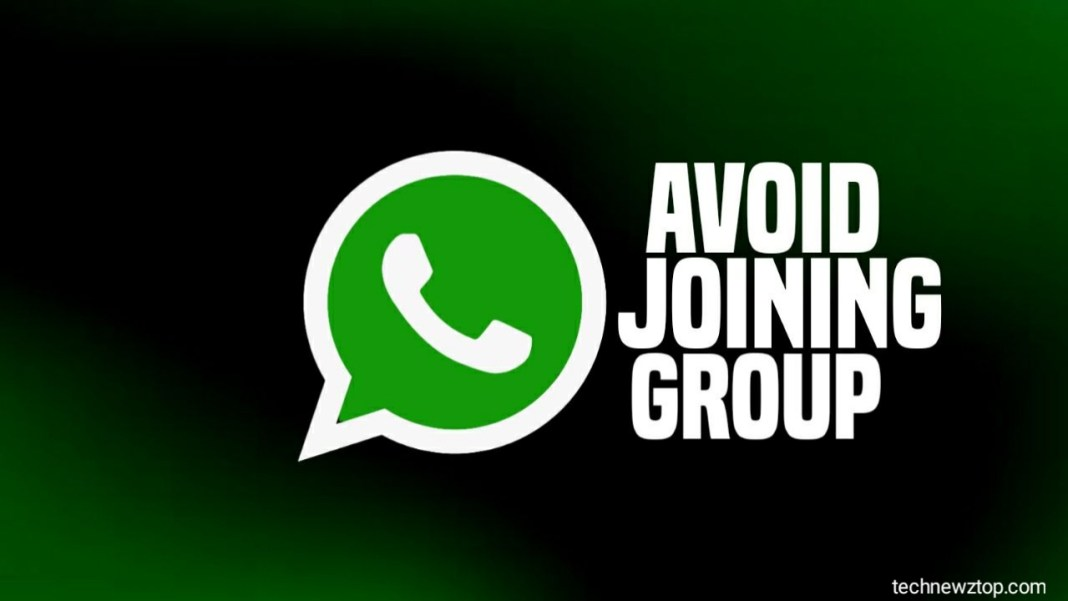 Avoid Joining WhatsApp group