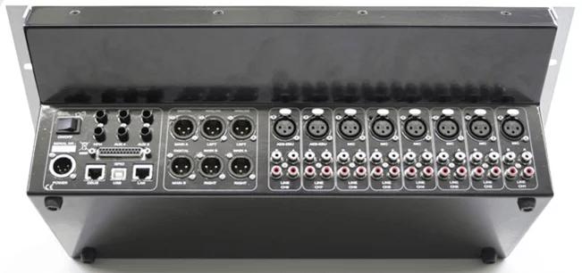 EELA Audio D3 console numérique broadcast radio connectique