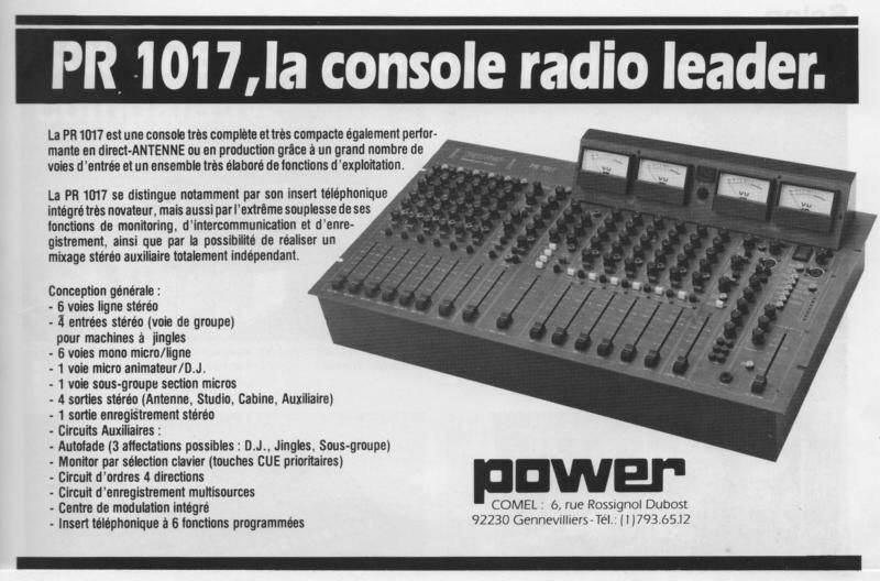 PR1017 La console radio leader