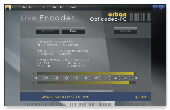 Orban Opticodec Streamer encodeur radio webradio