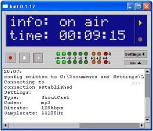 BUTT caster streamer encodeur radio technic2radio