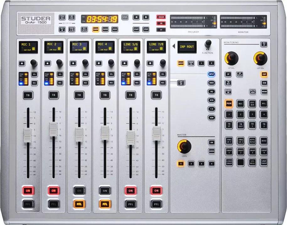 Studer OnAir 1500 Desk | Console Numérique Broadcast pour radio