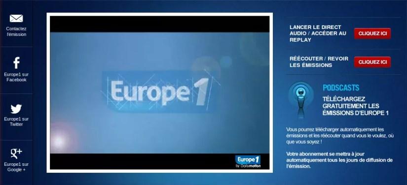 Europe 1 en direct video