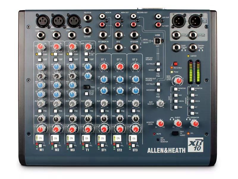 Allen & Heath XB10 Front consolel broadcast
