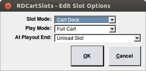 rdcartslots Edit slot options