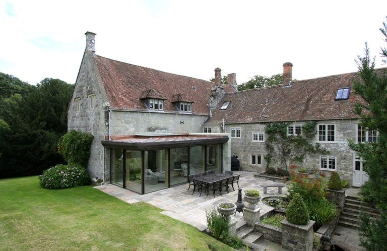 Listed manor house with replacement glazing