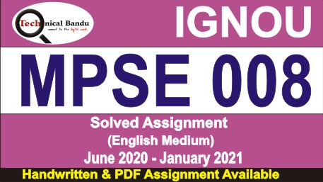 mpse 008 solved assignment in hindi; mpse-008 question paper; bhic 131 solved assignment in hindi; mpse-008 book pdf in hindi