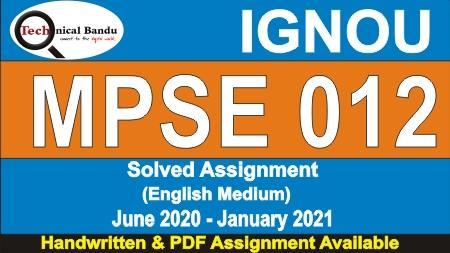 mpse-13; mpse-012 question paper; mpse-013