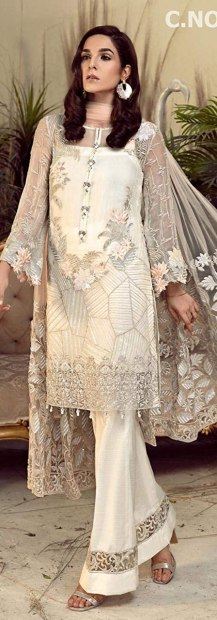 Glorious Green foux georgette embroidered Straight suit