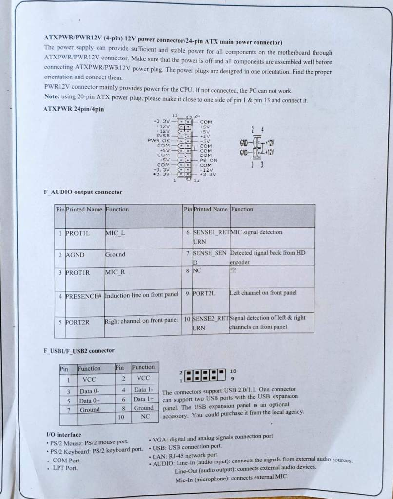 consistent g31 motherboard manual page 1