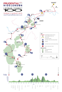 Prudential RideLondon-Surrey 100 2015 Route Profile Map