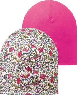 "Composite Image of the Microfiber Reversible Hat Buff® design ""Provence / Magenta"""