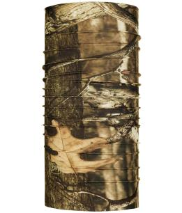 "Studio photo of the Coolnet UV Buff® Mossy Oak Collection Design ""Break Up Infinity"". Source: buff.eu"