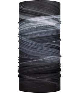 "Studio photo of the BUFF® Original Multifunctional Headwear Design ""Speed Graphite"". Source: buff.eu"