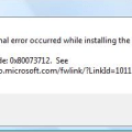 Windows Update Error 0x80073712