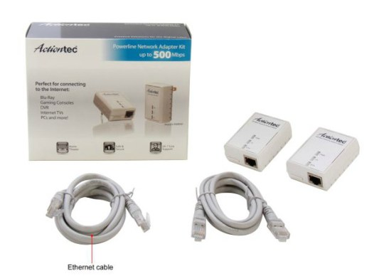 Actiontec PWR511K01 Powerline Network Adapter Kit