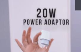 20 Watt power adapter for fast charging