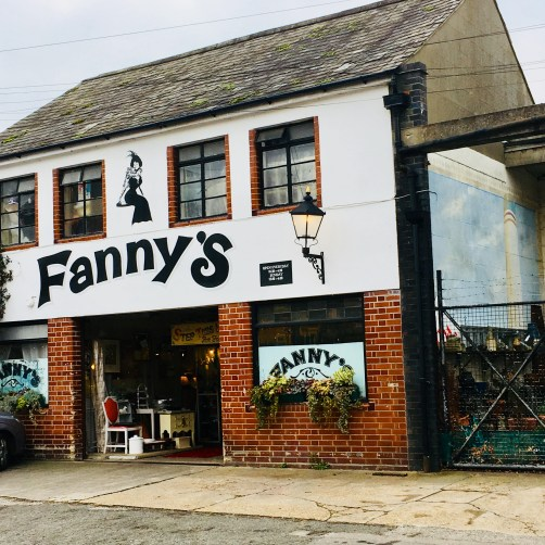 Outside Fanny's Antiques