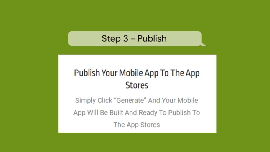 Step 3 - Publish