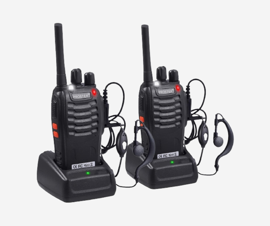 POSTER WALKIE TALKIES RECHARGEABLE 16 CHANNEL 2-WAY RADIOS