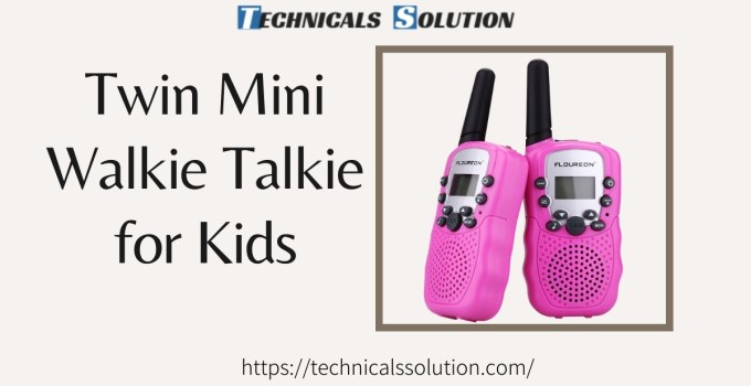 Twin Mini Walkie Talkie for Kids