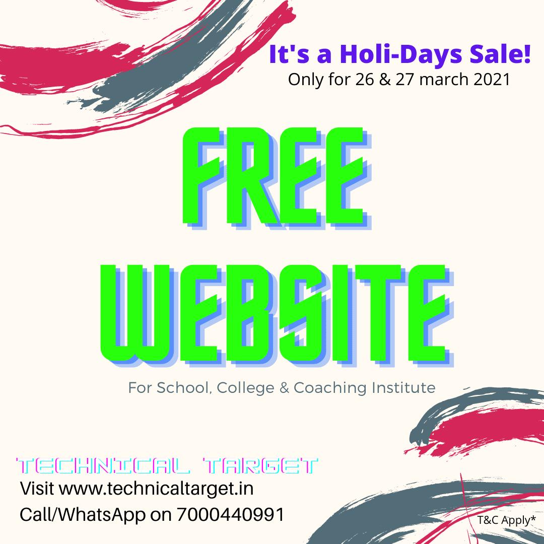 free website sale_Offer