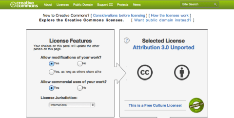 How to get a creative commons license