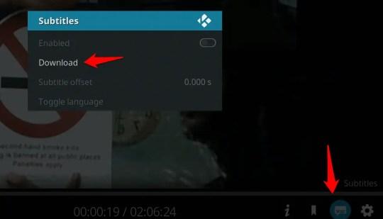 How to get subtitles on Kodi