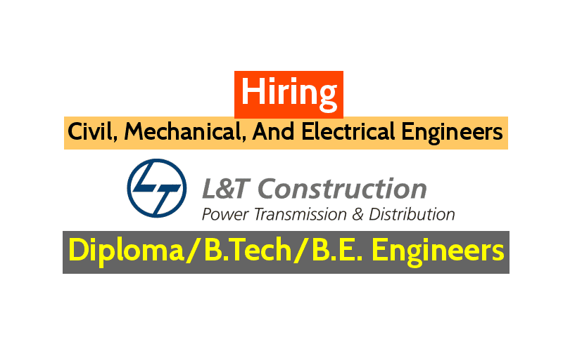 LNT construction Recruitment