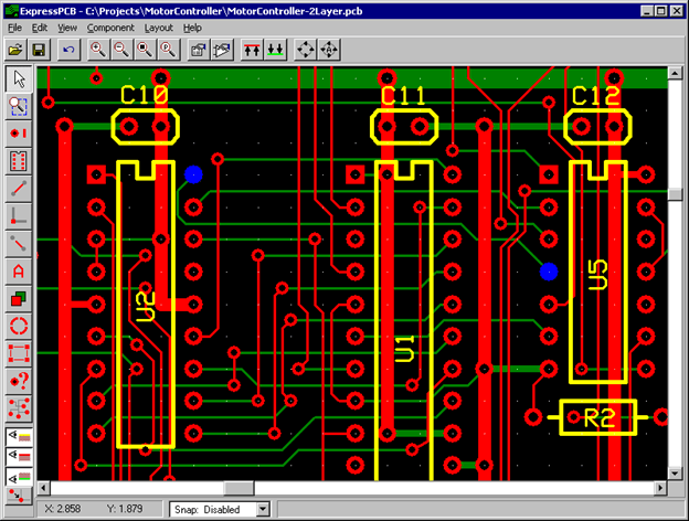 Express PCB design software