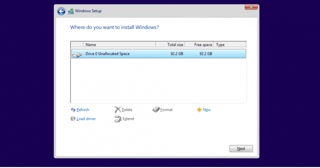 Partition in Windows 10