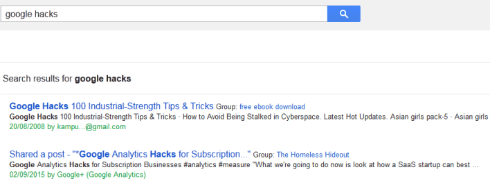 google search tricks and secrets