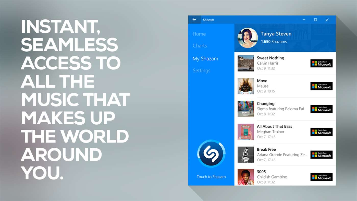 Download Shazam on windows PC