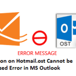 Resolve Hotmail.ost Cannot be Accessed Error in MS Outlook Manually