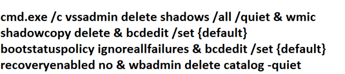Deleting Volume Shadow Copy Service using CMD