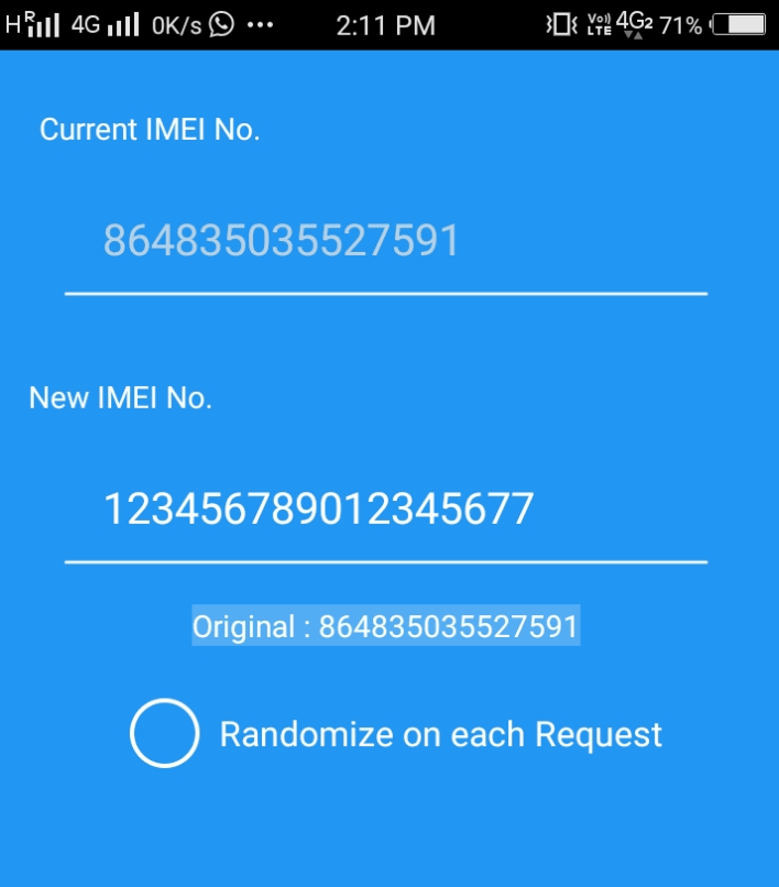 IMEI changer android
