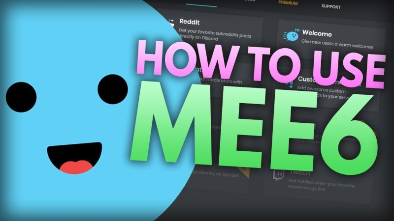 The guide to use MEE6 commands