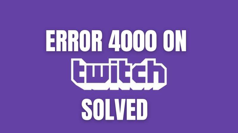 Twitch error 4000 Resource format not supported